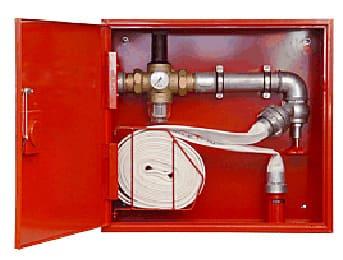 Hydrant wewnętrzny suchy pion z regulatorem ciśnienia